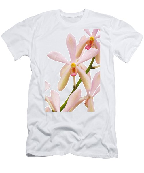 Closeup Pink Orchid Men's T-Shirt (Slim Fit) by Atiketta Sangasaeng
