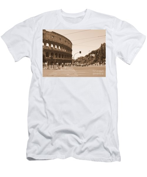 Colosseum In Sepia Men's T-Shirt (Athletic Fit)