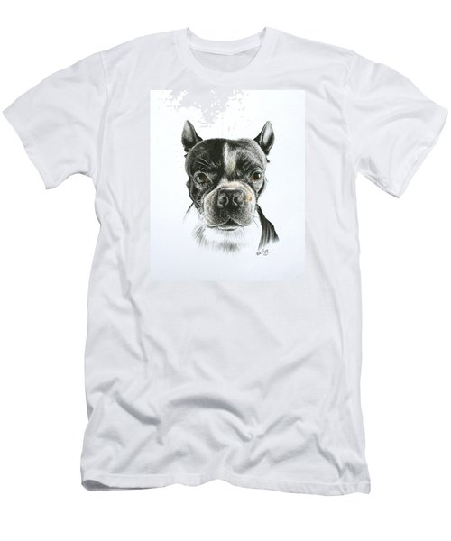 Men's T-Shirt (Slim Fit) featuring the drawing Cooper by Mike Ivey