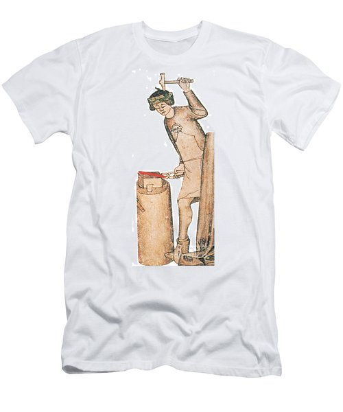 Coppersmith, Medieval Tradesman, 14th Men's T-Shirt (Athletic Fit)