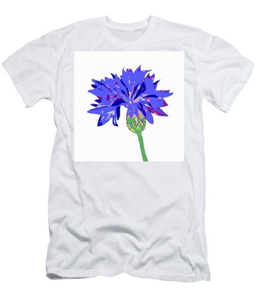 Cornflower Men's T-Shirt (Slim Fit) by Barbara Moignard