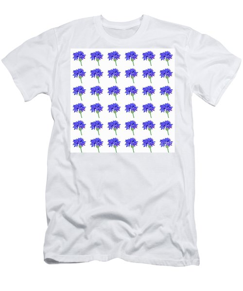 Cornflowers Men's T-Shirt (Slim Fit) by Barbara Moignard