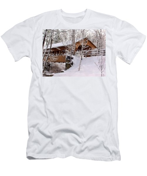 Covered Bridge At Olmsted Falls - 2 Men's T-Shirt (Athletic Fit)