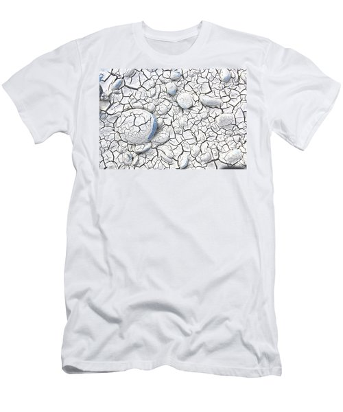 Men's T-Shirt (Slim Fit) featuring the photograph Cracked Earth by Nareeta Martin