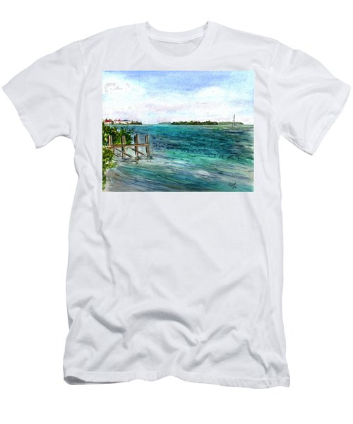 Cudjoe Bay Men's T-Shirt (Athletic Fit)