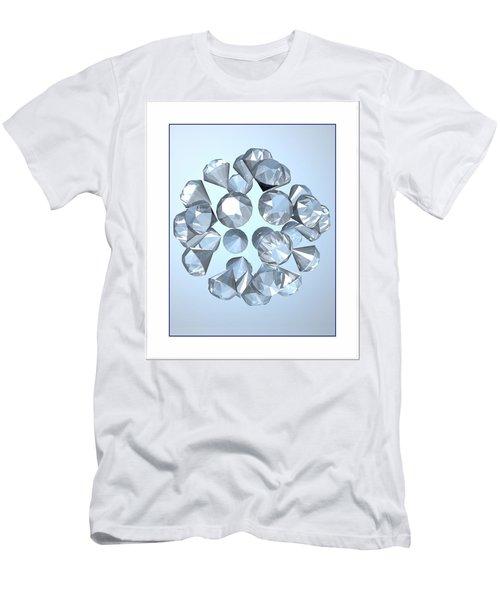 Men's T-Shirt (Slim Fit) featuring the digital art Diamonds... by Tim Fillingim