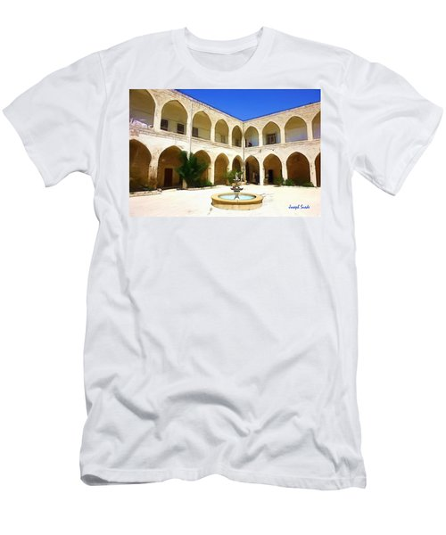 Men's T-Shirt (Athletic Fit) featuring the photograph Do-00494 Inside Court Saidet El-nourieh by Digital Oil