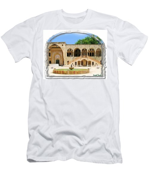 Men's T-Shirt (Athletic Fit) featuring the photograph Do-00522 Emir Bechir Palace by Digital Oil