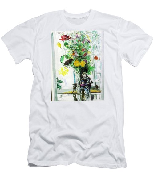 Dolls And Flowers Men's T-Shirt (Athletic Fit)
