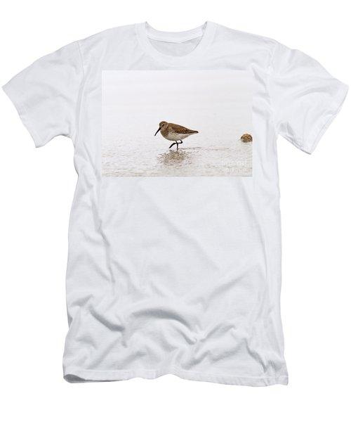 Dunlin In Winter Men's T-Shirt (Athletic Fit)
