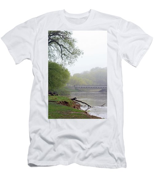 Men's T-Shirt (Slim Fit) featuring the photograph Early Spring Morning Fog by Kay Novy