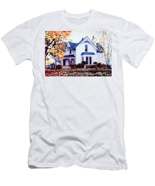 Men's T-Shirt (Athletic Fit) featuring the painting Family Home Portrait by Hanne Lore Koehler