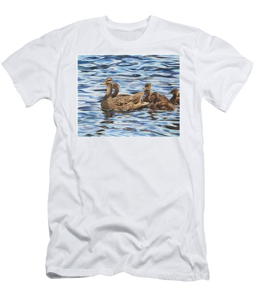 Men's T-Shirt (Athletic Fit) featuring the painting Family Outing by Tammy Taylor