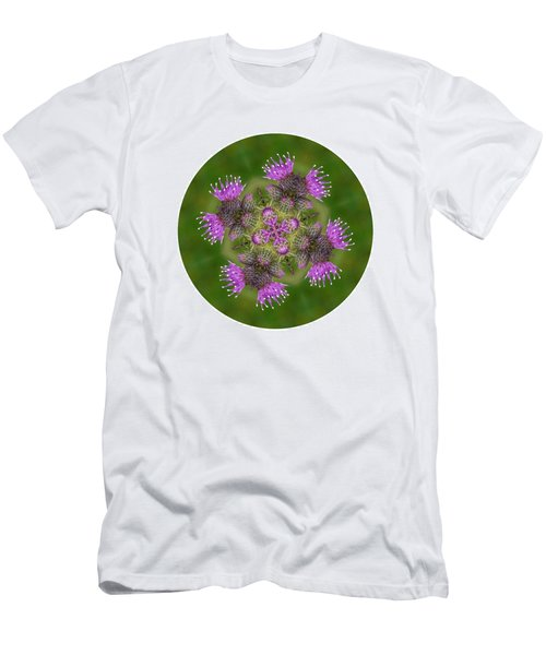 Men's T-Shirt (Slim Fit) featuring the photograph Flower Of Scotland by Lynn Bolt