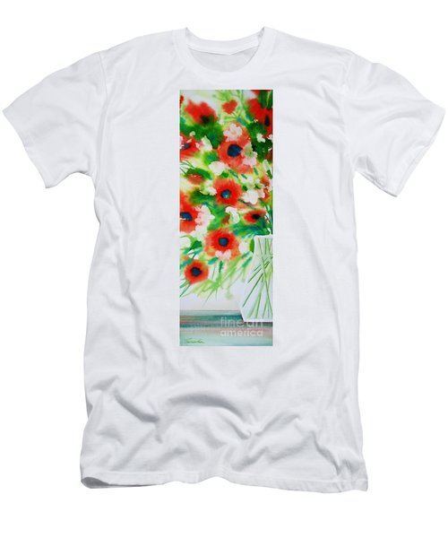 Flowers In A Glass Men's T-Shirt (Athletic Fit)