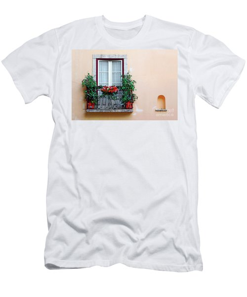 Flowery Balcony Men's T-Shirt (Athletic Fit)