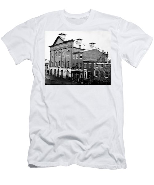 Men's T-Shirt (Slim Fit) featuring the photograph Fords Theater - After Lincolns Assasination - 1865 by International  Images