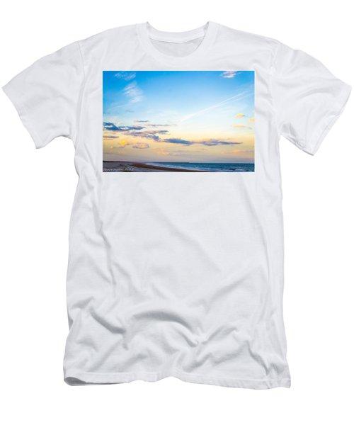 Men's T-Shirt (Slim Fit) featuring the photograph Forte Clinch Pier by Shannon Harrington