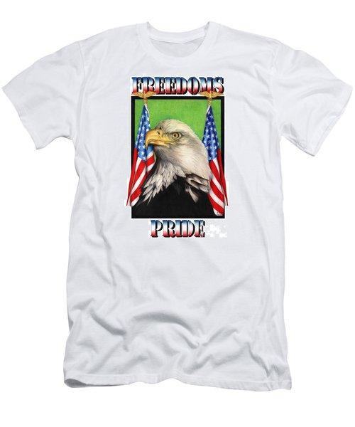Freedoms Pride Men's T-Shirt (Slim Fit) by Sheryl Unwin