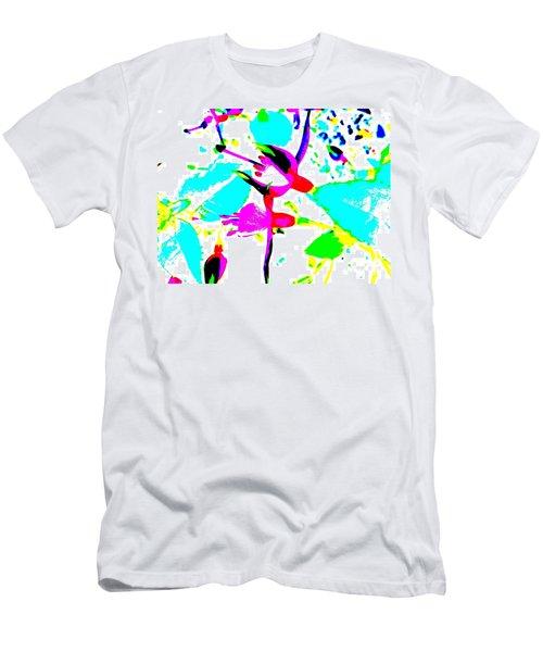 Men's T-Shirt (Slim Fit) featuring the digital art Fuchsia by Barbara Moignard