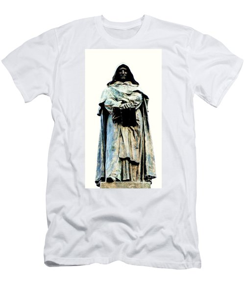 Giordano Bruno Monument Men's T-Shirt (Slim Fit) by Roberto Prusso