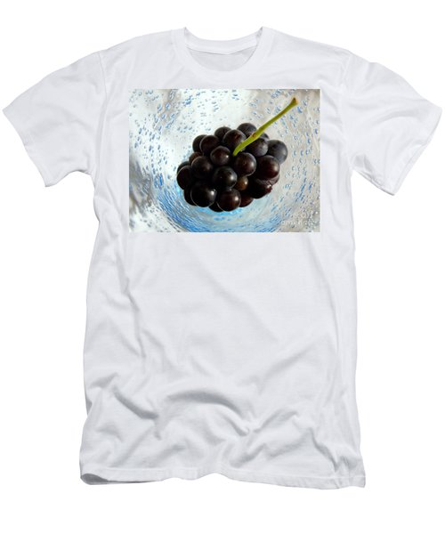 Men's T-Shirt (Slim Fit) featuring the photograph Grape Cluster In Biot Glass by Lainie Wrightson
