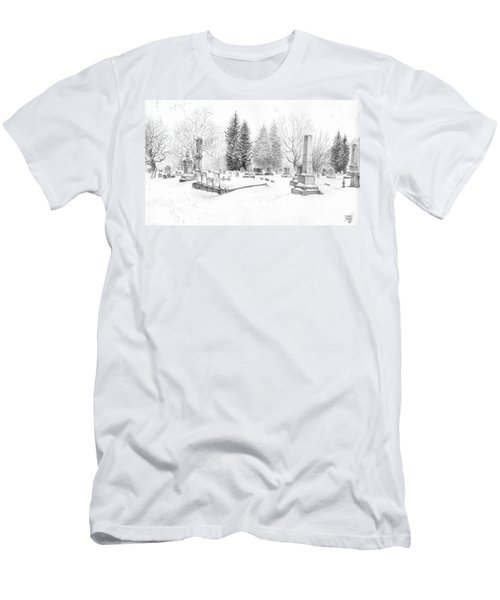 Graveyard In The Snow Men's T-Shirt (Athletic Fit)