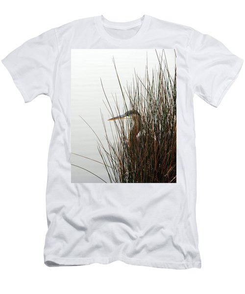 Men's T-Shirt (Slim Fit) featuring the photograph Great Blue Heron by Kay Lovingood