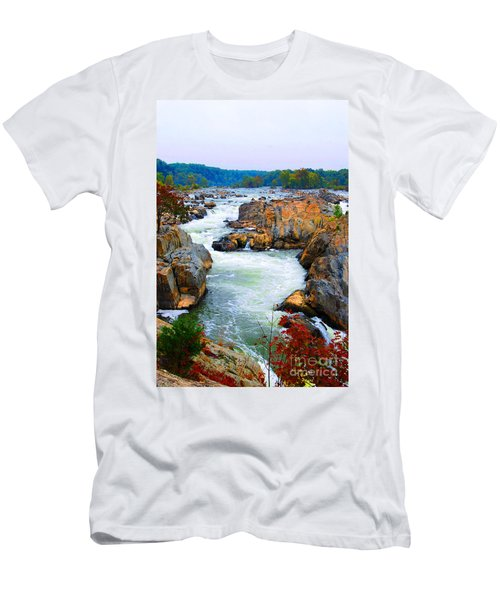 Great Falls On The Potomac River In Virginia Men's T-Shirt (Athletic Fit)