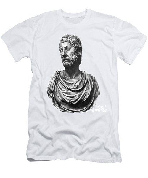 Men's T-Shirt (Slim Fit) featuring the drawing Hannibal by Marianne NANA Betts