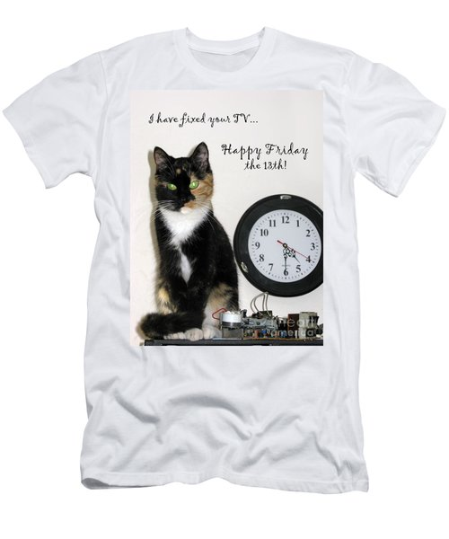 Men's T-Shirt (Athletic Fit) featuring the photograph Happy Friday The 13th by Ausra Huntington nee Paulauskaite
