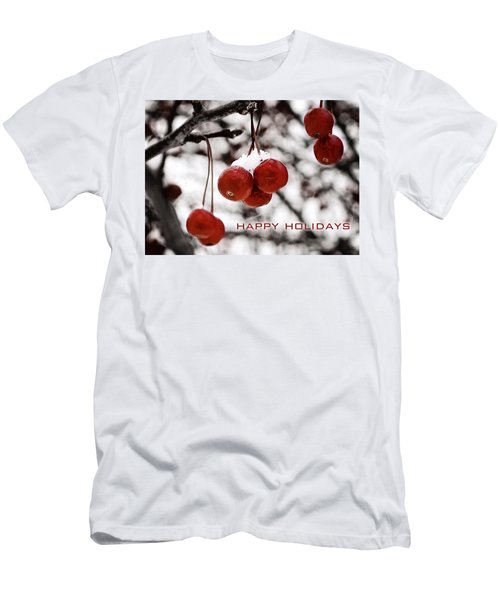Happy Holidays Berries Men's T-Shirt (Athletic Fit)