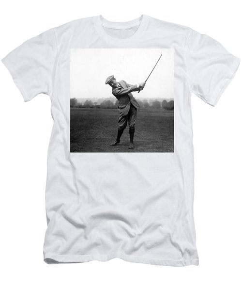 Men's T-Shirt (Slim Fit) featuring the photograph Harry Vardon Swinging His Golf Club by International  Images