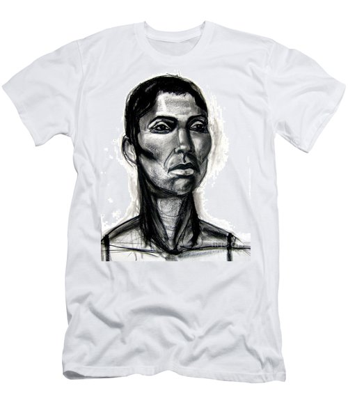 Men's T-Shirt (Athletic Fit) featuring the drawing Head Study by Gabrielle Wilson-Sealy