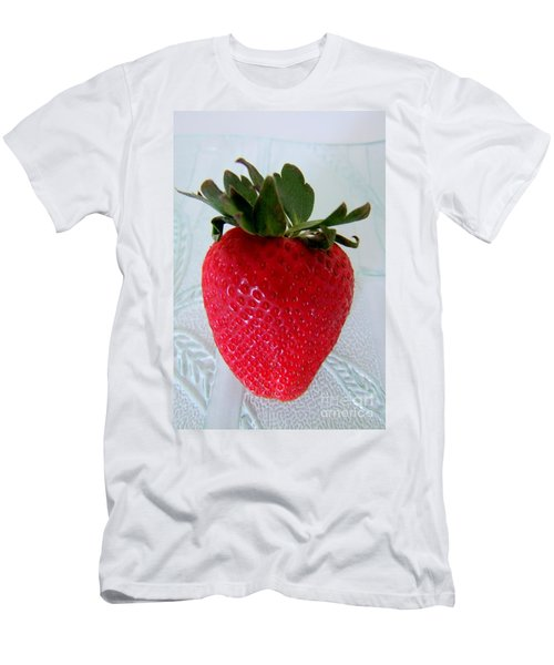 Hearty Red Strawberry Men's T-Shirt (Athletic Fit)