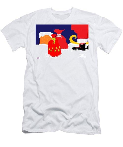 Men's T-Shirt (Slim Fit) featuring the digital art Ho Ho Ho by Barbara Moignard