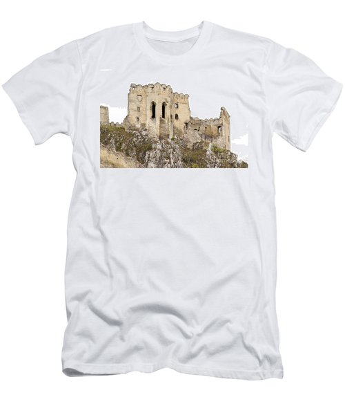 Men's T-Shirt (Slim Fit) featuring the photograph Hrad Beckov Castle by Les Palenik