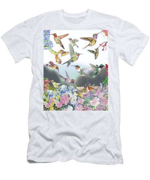 Hummingbirds Galore Men's T-Shirt (Athletic Fit)