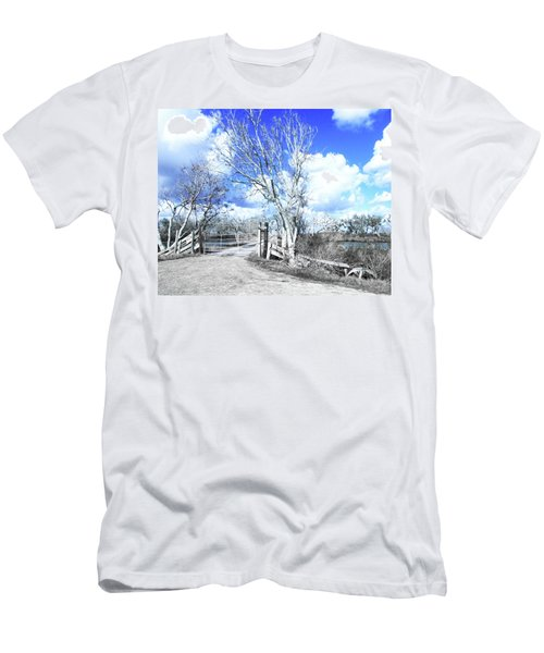 Men's T-Shirt (Slim Fit) featuring the photograph Hwy 82 Coastal Louisiana by Lizi Beard-Ward