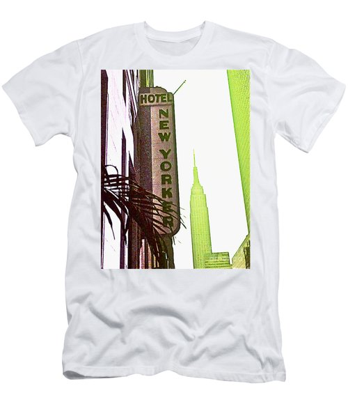 Men's T-Shirt (Slim Fit) featuring the photograph I Love New York by Beth Saffer