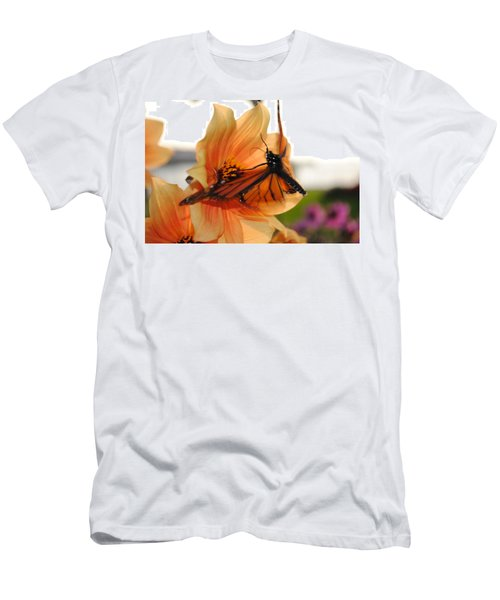 Men's T-Shirt (Slim Fit) featuring the photograph In Flight... by Michael Frank Jr