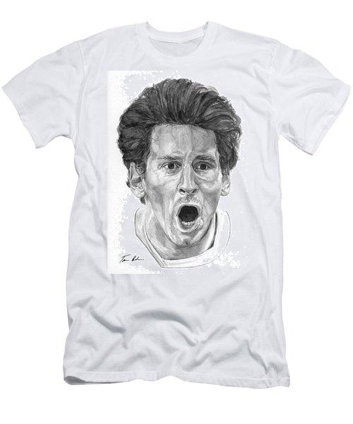 Intensity Lionel Messi Men's T-Shirt (Slim Fit) by Tamir Barkan