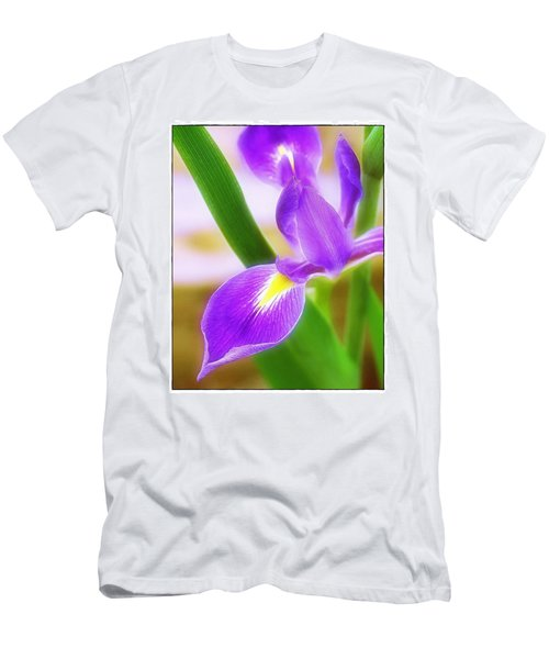 Men's T-Shirt (Slim Fit) featuring the photograph Iris On Pointe by Judi Bagwell