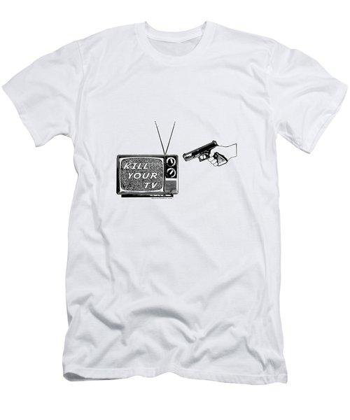Kill Your Tv Men's T-Shirt (Slim Fit) by Tony Koehl