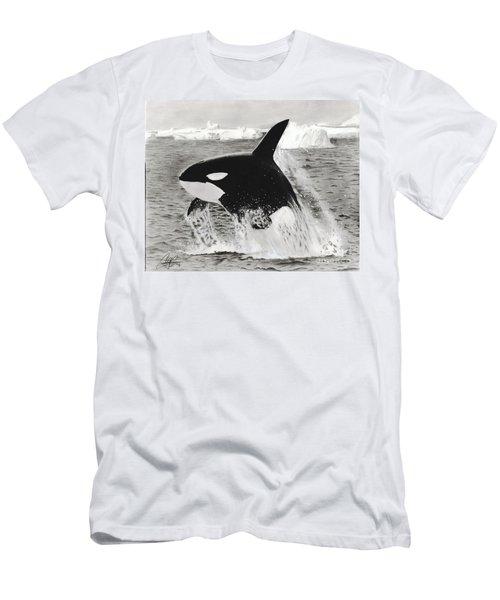 Killer Whale Men's T-Shirt (Athletic Fit)
