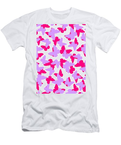 Layered Butterflies  Men's T-Shirt (Athletic Fit)