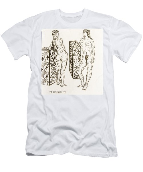 Live Nude 19 Female Men's T-Shirt (Athletic Fit)