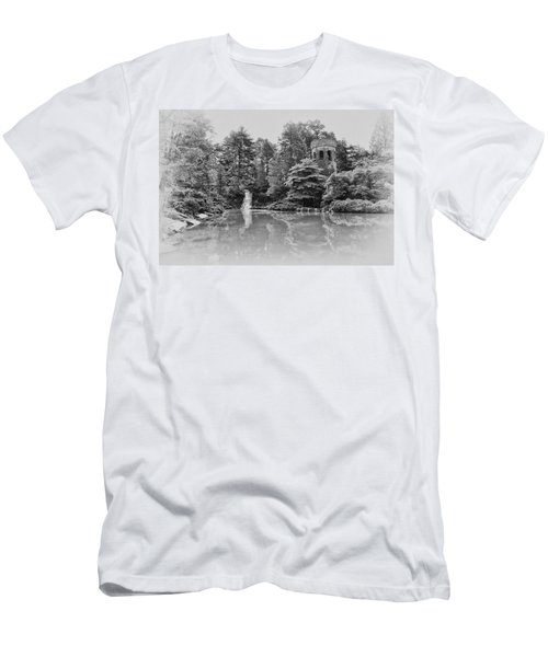 Longwood Gardens Castle In Black And White Men's T-Shirt (Athletic Fit)