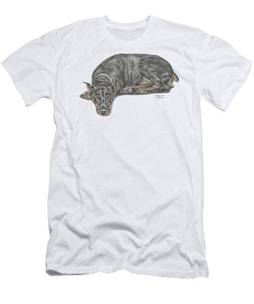 Lying Low - Doberman Pinscher Dog Print Color Tinted Men's T-Shirt (Athletic Fit)