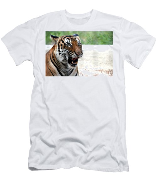 Men's T-Shirt (Slim Fit) featuring the photograph Make My Day by Kathy  White